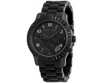 Michael Kors Black Runway Unisex Stainless Steel..
