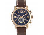 Fossil BQ2102 Chronograph Brown Leather Strap Me..