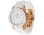 Fossil CE1006 White Ceramic Multi-Function Ladie..