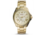 Fossil AM4570 Ceclie Champagne Dial Gold Steel L..