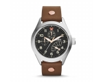 Fossil CH2939 Multi-Function Black Dial Brown Le..