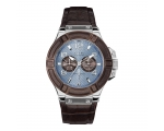 Guess W0040G10 Rigor Brown Calfskin Men's Watch