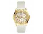 Guess I11528L2 White Leather Quartz Ladies Watch