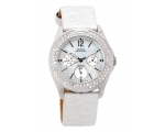 Guess G95432L White G Logo Leather Strap Women's..