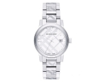 Burberry BU9037 Unisex Stainless Steel White Dia..