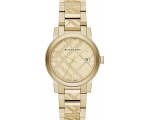 Burberry BU9038 Unisex Swiss Gold Ion-Plated Sta..
