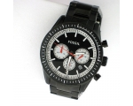 Fossil Bq1259 Automotive Black Chronograph Stain..