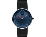 MOVADO 3680004 Edge Blue Dial Silicone Men's Watch