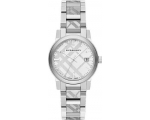 Burberry BU9144 silver check stainlkess steel la..