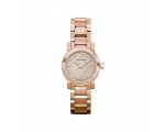 Burberry BU9039 Rose GoldTone Dial Stainless Ste..