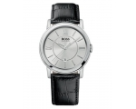 Hugo Boss 1512417 Gents Watch Silver Dial Black ..