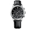 Hugo Boss 1512574 Black Face Black Leather Strap..