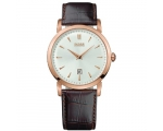Hugo Boss 1512634 Gents Gold Rim Leather Watch
