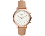 Fossil FTW5007 Q Neely Bone Leather Rose Gold Hy..
