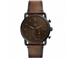 Fossil FTW1149 Commuter Leather Strap Hybrid Sma..