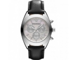 Armani Ar5961 Sportivo Silver Women's Leather Wa..