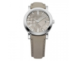 Burberry BU1754 Grey Genuine Leather Strap Men's..