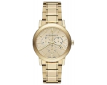 Burberry BU9033 The City Champagne Dial Gold-Ton..