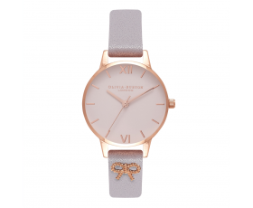 Olivia Burton OB16VB05 Vintage Bow Grey Lilac Ladies Watch
