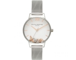 Olivia Burton OB16CH02 Busy Bees Silver Mesh Lad..
