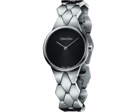 Calvin Klein K6E23141 Black Dial Snake Steel Ladies Watch