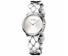 Calvin Klein K6E23146 Silver Dial Snake Steel Ladies Watch