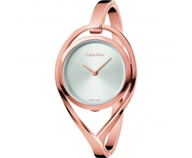 Calvin Klein K6L2M616 Silver Dial Rose Gold Bracelet Ladies Watch