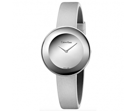 Calvin Klein K7N23UP8 Chic Silver Tone Leather Dial Women's Watch