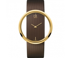Calvin Klein K9423503 Glam Brown Leather Strap Women's Watch