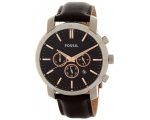 Fossil BQ1525 Chronograph Black Dial Brown Leath..