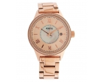 Fossil BQ1108 Rose Gold Tone Stainless Steel Lad..