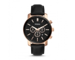 Fossil BQ2286 Black Dial Black Leather Band Men'..
