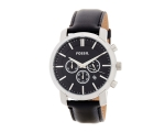 Fossil BQ1279 Classic Black Dial Black Leather B..
