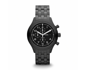 Fossil JR1439 Compass Chronograph Black Stainless Steel Men's Watch