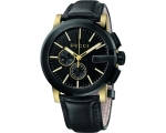 Gucci YA101203 G-Chrono Black Dial Black Leather..