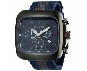 Gucci YA131203 Coupe Chronograph Blue And Grey Nylon Men's Watch
