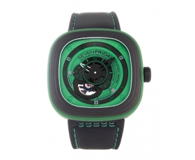 Sevenfriday p1-05 Green 47mm Black PVD Steel Automatic Men's Watch