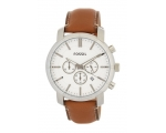 Fossil BQ2009 Camel Stainless Steel Brown Leathe..
