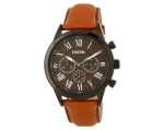 Fossil BQ2047 Black Dial Brown Leather Strap Men..