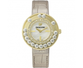 Swarovski 5027203 Lovely Crystals Gold Tone Leather Women's Watch