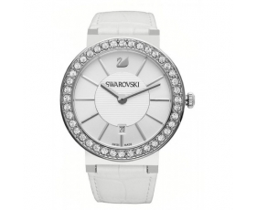 Swarovski 1094360 Citra Sphere Crystal White Leather Women's Watch