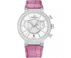 Swarovski 5096008 Citra Sphere Pink Leather White Dial Women's Watch