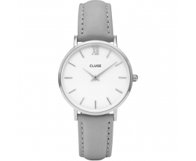 Cluse CL30006 Minuit Silver Tone White Dial Women's Wrist Watch