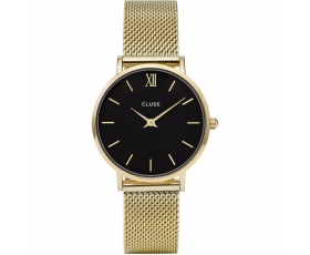 Cluse CL30012 Minuit Mesh Stainless Steel Gold Tone Women's Watch