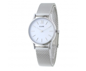 Cluse CL50005 La Vedette White Dial Stainless Steel Mesh Ladies Watch