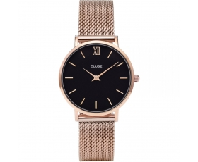 Cluse CL30016 Minuit Mesh Rose Gold Tone Stainless Steel Women's Watch