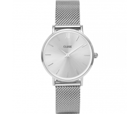Cluse CL30023 Minuit Mesh Silver Dial Stainless Steel Women's Watch