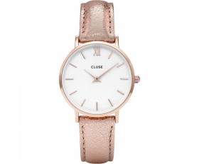 Cluse CL30038 Minuit White Dial Rose Gold Tone Women's Quartz Watch