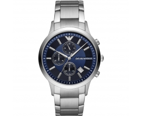 Emporio Armani AR11164 Blue Dial Stainless Steel Bracelet Men's Watch