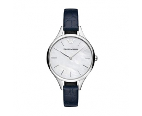 Emporio Armani AR11090 Blue Leather Strap Automatic Ladies Watch